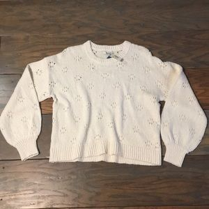 Madewell patterned balloon sleeve sweater